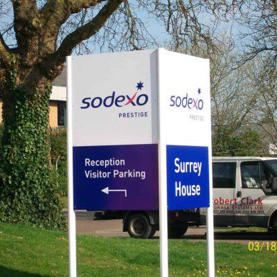 Large Visitor Parking Sign to wayfind the car park.