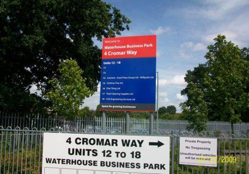 Business Park Wayfinding Sign
