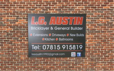 Bricklayer & General Builder bespoke Builders board.