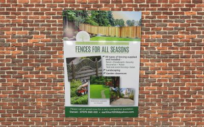 fences builders board on brick wall