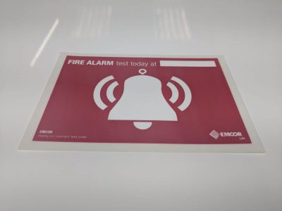Fire Alarm Test Signage