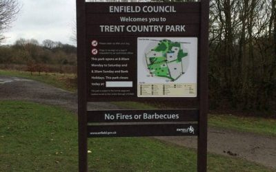 Wooden County Park Noticeboard