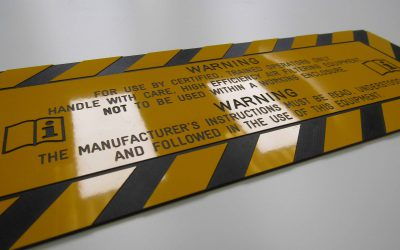 Engraved CNC Routed Warning Plate