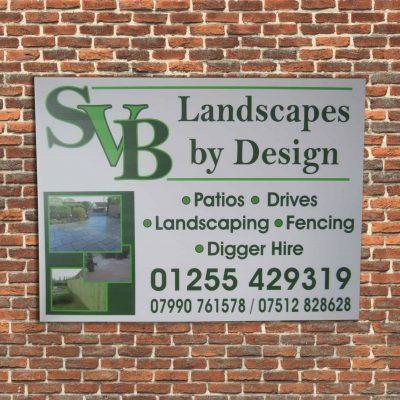 Landscape Builders board for a landscaper.