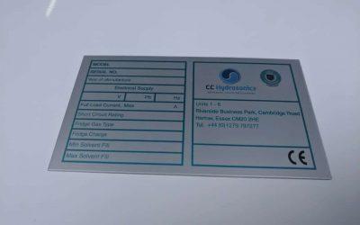 Metal Rating Plate Label