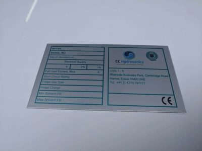 Metal Rating Plate Label