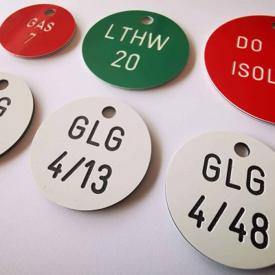 Red & Green valve tags