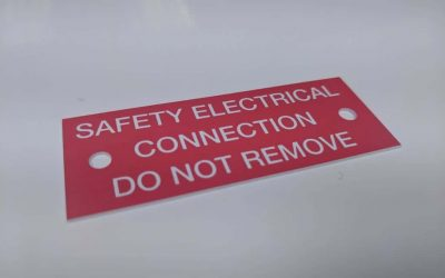 Rigid Electrical Label