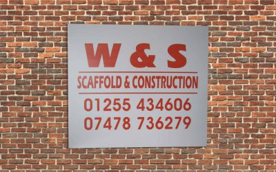 Scaffold Builders Board Used to give out phone number.