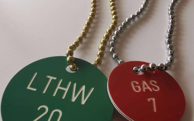 Valve Tags with chain