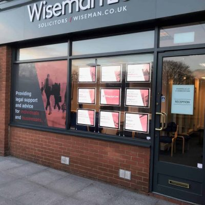 window display for an estate agency
