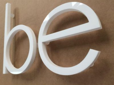 acrylic letters on stand offs