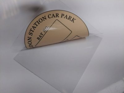 station car park label