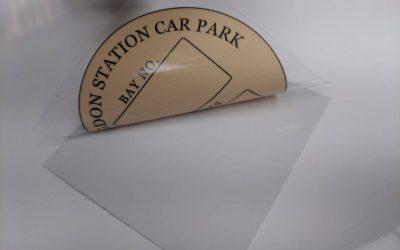 station car park label